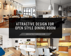 Attractive Design For Open Style Dining Room Featured Image