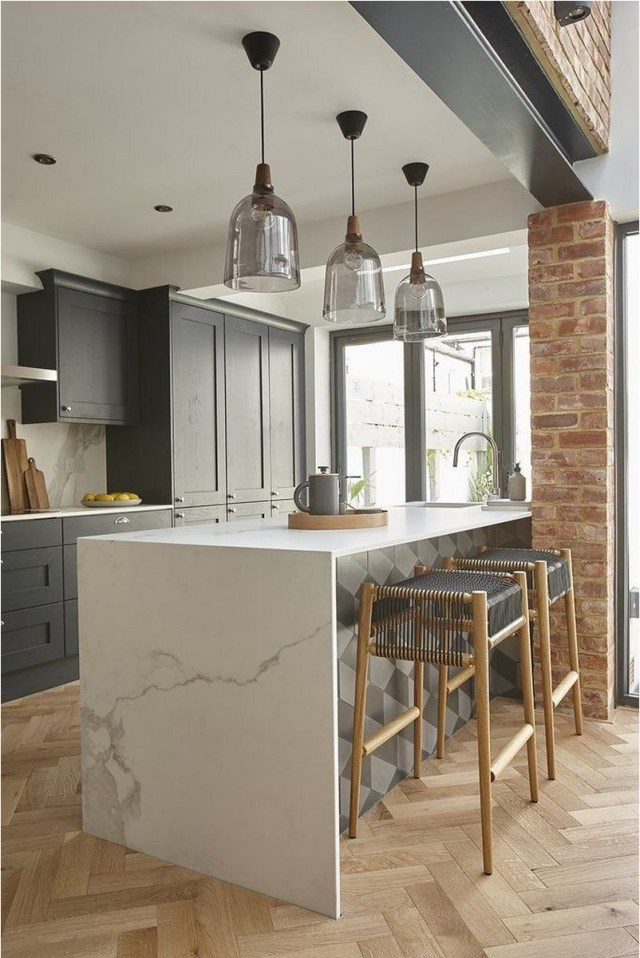 Brick Expose Rustic Kitchen