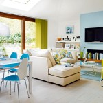 Bright Open Plan Living Room Kitchen Dining