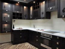 Color Balance for Elegant Brown Minimalist Kitchen Decorating Ideas