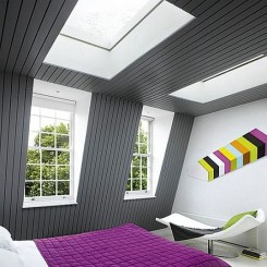 Colorful Attic Bedroom Ideas Purple