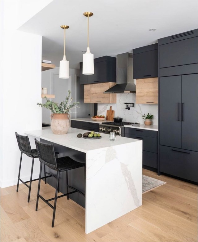 Contemporary Kitchen With Tumwater Pendant