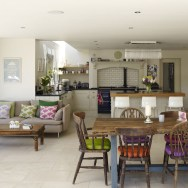 Country Cottage Style Open Plan Kitchen Living