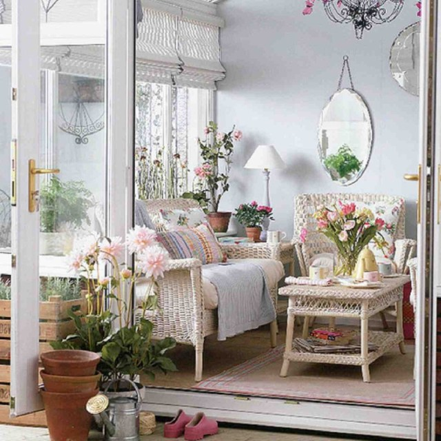Glass Door for Shabby Chic Style Minimalist Home Inspiration