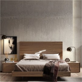 LED Light And Concrete Wall For Industrial Bedroom Ideas