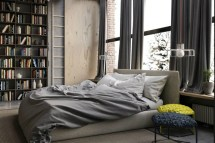 Large Window for Awesome Industrial Bedroom Inspiration