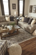 Light Brown Color And Wood Floor Rustic Living Room