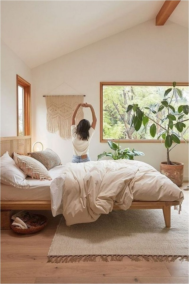 Light Brown Rustic Bedroom