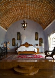 Mediterranean Bedroom With Ceramic Floor Ideas