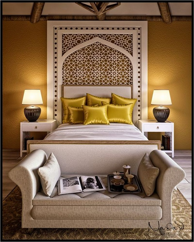 Main Color for Comfortable Mediterranean Style Bedroom