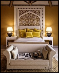 Mediterranean Bedroom With Yellow Color Combination