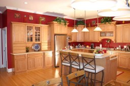 Natural Wood Brown For Elegant Brown Minimalist Kitchen Decorating Ideas