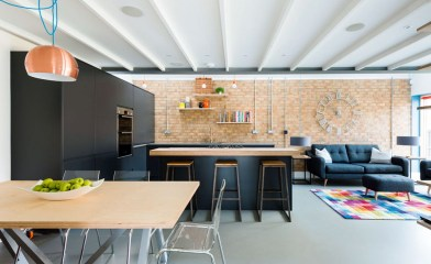 Open Plan Kitchens Black Furniture