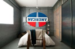 Pipe for Awesome Industrial Bedroom Inspiration