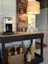 Rustic Style Table For Personal Coffee Shop At Home