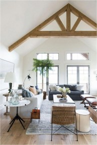 Rustic Familly Room With Plant