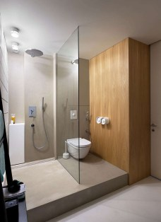 Simple Bathroom Design Wall Shower