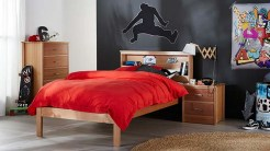 Small Bedroom Ideas For Teen Boys With Black And White Walls