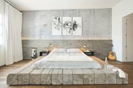 Soft Impression for Awesome Industrial Bedroom Inspiration