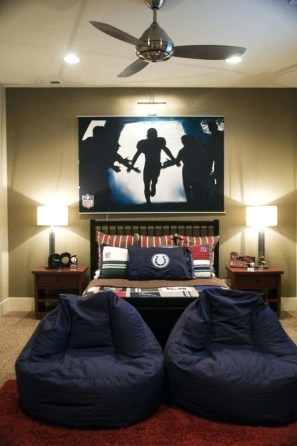 Teenage Boy Bedroom Ideas With A Fun Bean Bag
