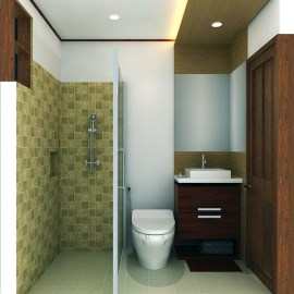 WC for Simple Bathroom Design Without Bathtub