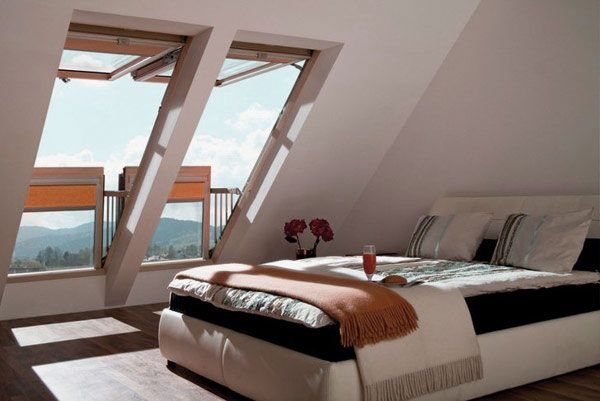 Window That Turns Into Balcony Creative House Design Attic Bedroom Ideas