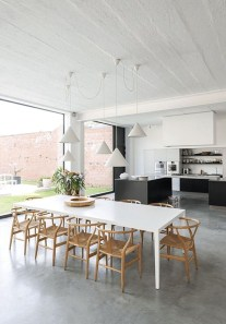 Wishbone Chairs In Scandinavian Dining Room