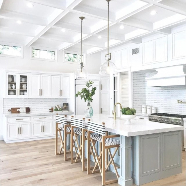 All White Kitchen With Wood Floor Ideas