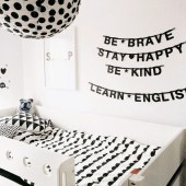 Child's Bedroom for Bedroom with Black-White Theme