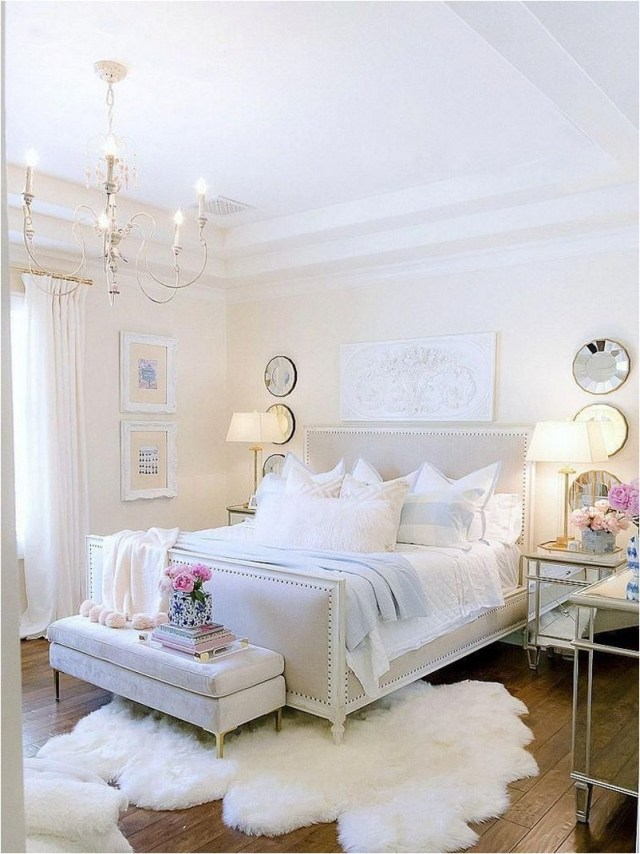 Modern Classic All White Bedroom