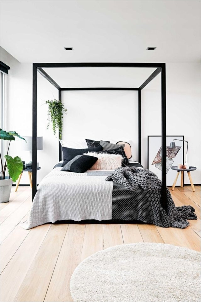 White And Black Accent Bedroom Ideas