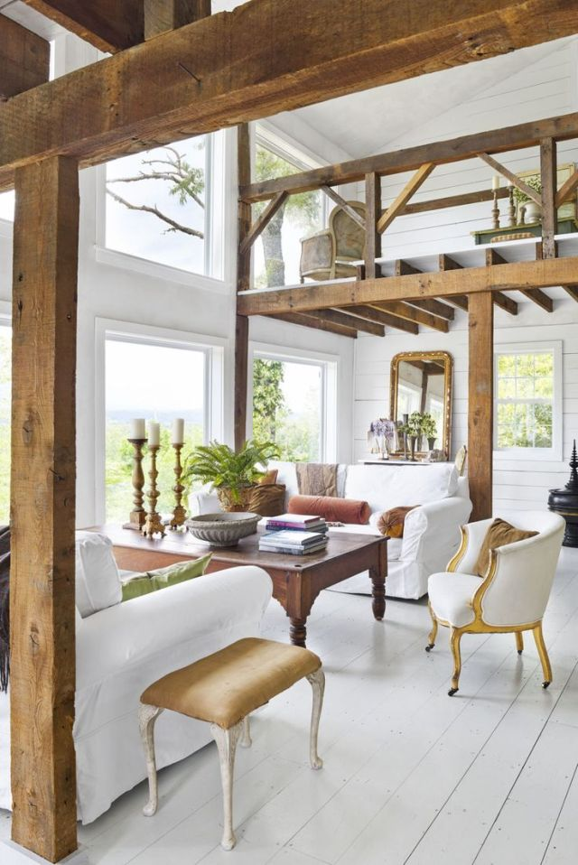 Wood Accents for All-White Style House Design