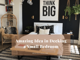 Amazing Ideas In Decking A Small Bedroom