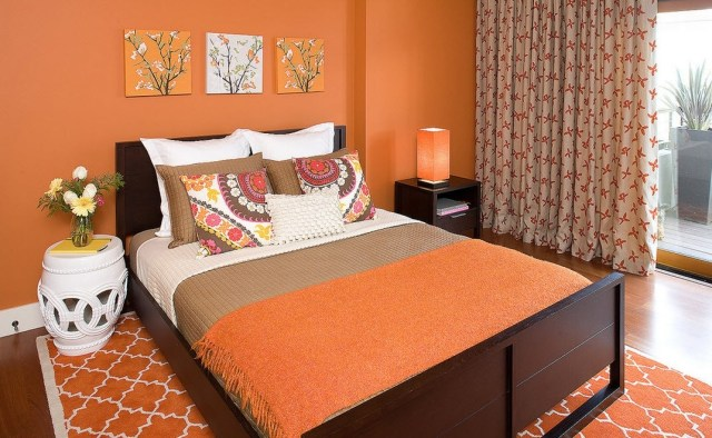 Balanced for Tips on Applying Orange Color to Your Bedroom