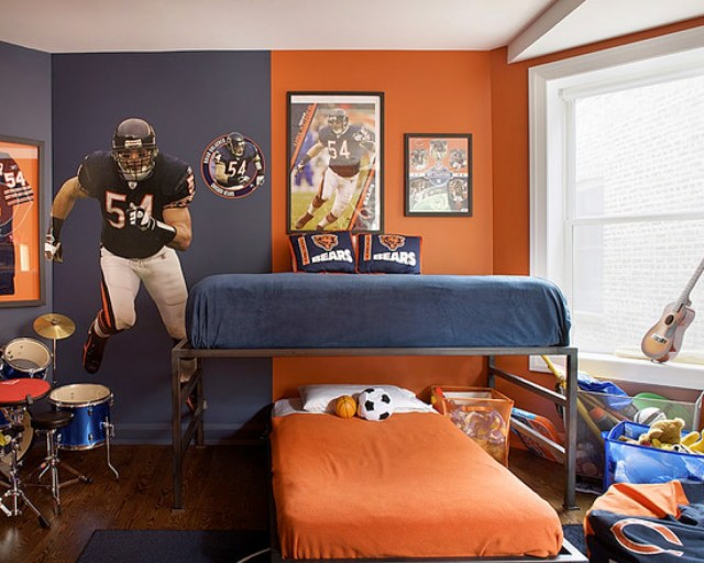 Boys Bedroom for Tips on Applying Orange Color to Your Bedroom