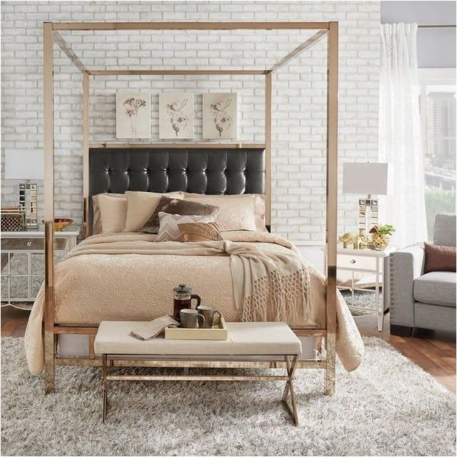 Champagne Gold Bedroom Decoration Ideas