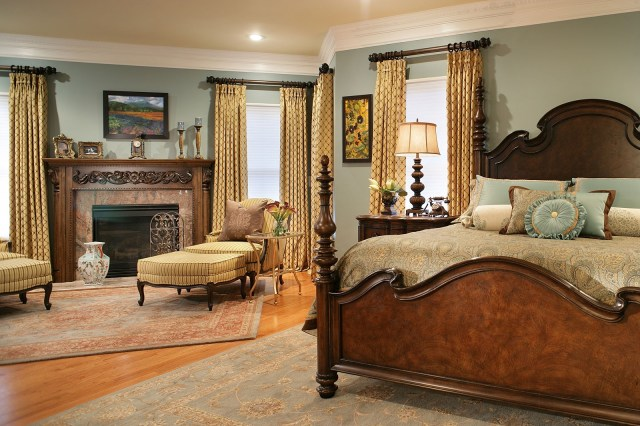 Gold Combination for Master Bedroom with Various Interest Colors