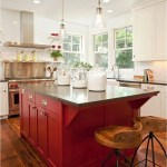 Modern Kitchen With Red And Black Table