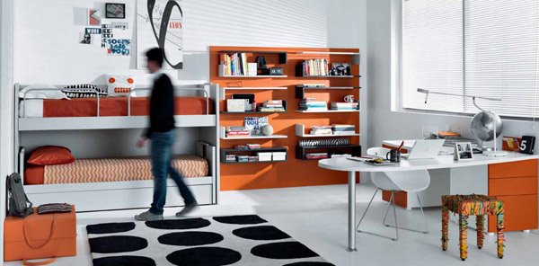 Modern Minimalist for Tips on Applying Orange Color to Your Bedroom