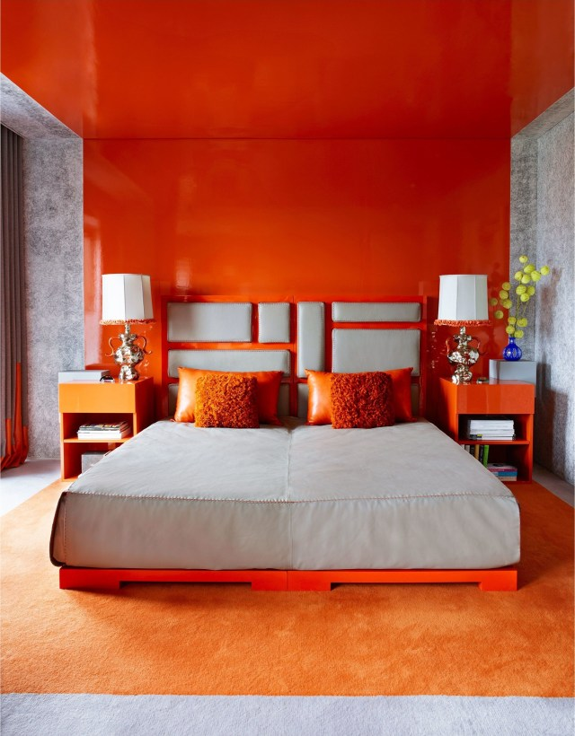 Orange And Red Bedroom Decorations