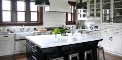 Vintage for Modern Kitchen Inspiration with Unique Chair Design