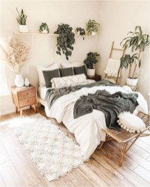 White And Green Color Combinations To Natural Bedroom Decorations