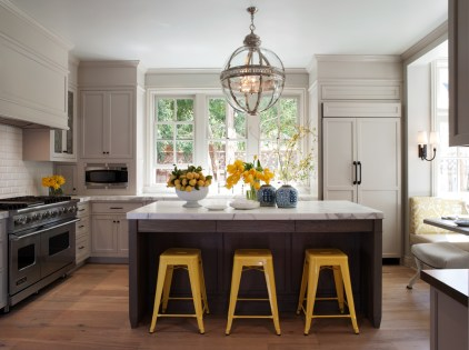 Yellow Chairs for Modern Kitchen Inspiration with Unique Chair Design