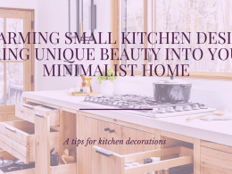 Charming Small Kitchen Design, Bring Unique Beauty Into Your Minimalist Homes