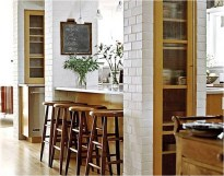 Functional Pole For Charming Small Kitchen Design