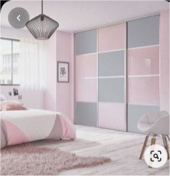 Pink, White, And Grey Wardrobe Bedroom Ideas