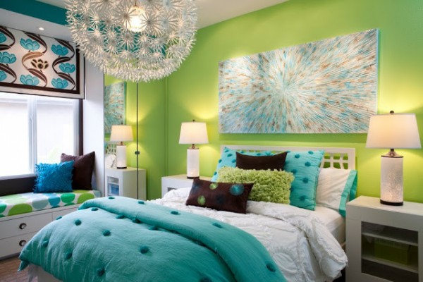 Soft Combination for Green Bedrooms Inspiration