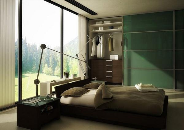 Subtle and Courageous for Green Bedrooms Inspiration