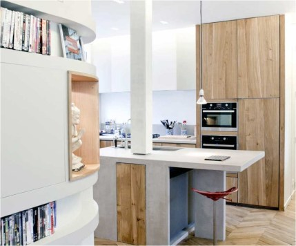 Wooden Accent To Small Kitchen