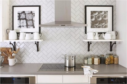 Minimize Color And Pattern For Change The 2x3 Meters Sized Small Kitchen
